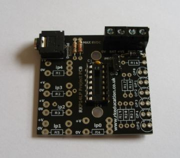 RKP14LP Low Power Project PCB for 14 pin PIC,PICAXE and Genie Self Build Kit